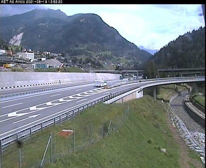 Caméra autoroute Suisse - Autoroute A2 - Airolo-Sud, avant le Tunnel du Gothard